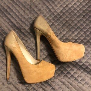 Suede Aldo platform heels